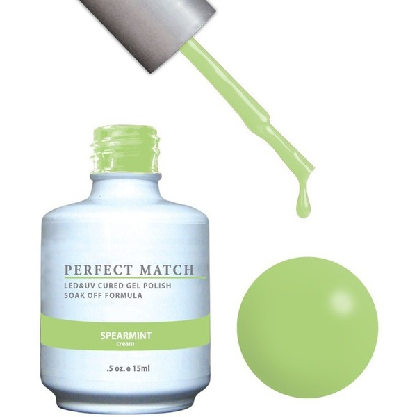 PERFECT MATCH - Soak Off Gel Polish + Lacquer - SPEARMINT (PMS120)