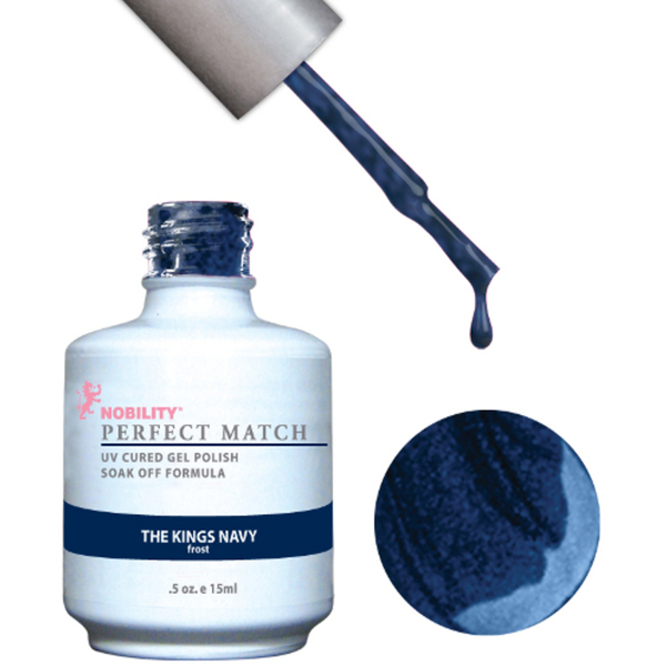 PERFECT MATCH - Soak Off Gel Polish + Lacquer - THE KINGS NAVY (PMS74)