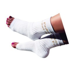 Original Pedi-Sox - White with Gold Metallic Logo (PS102)