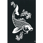 G Body Art - Elite Stencils - Koi ()