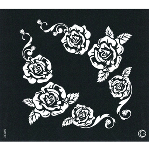 G Body Art - Essential Stencils - 2 Per Pack - Rose Bouquet ()