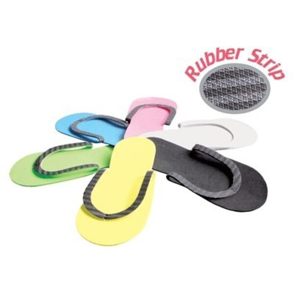 Slip-Resistant Rubber Strip Slipper 12 Pair ()