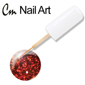 CM Nail Art - Red Glitter 0.33 oz. (NA21)