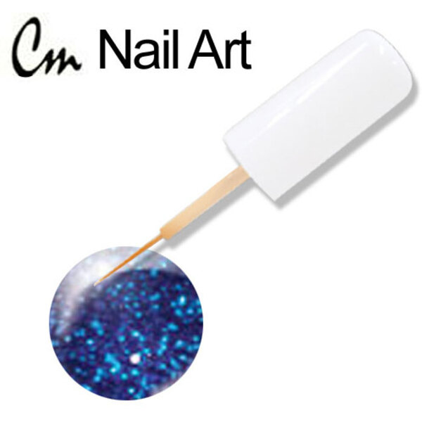 CM Nail Art - Blue Glitter 0.33 oz. (NA22)
