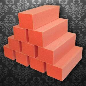 Dixon Buffer Block 3 Way - OrangeWhite - 6060 Grit Case of 500 Blocks ()