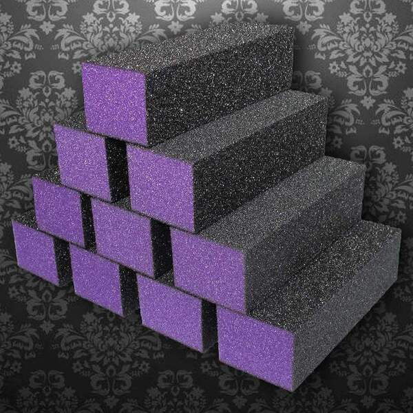Dixon Buffer Block 3 Way - PurpleBlack - 60100 Grit Case of 500 Blocks ()
