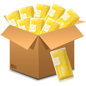 Voesh Pedicure in a Box - 3-Step Hygienic Spa Pedicure Kit - Lemon Case of 100 Treatment Sets ()