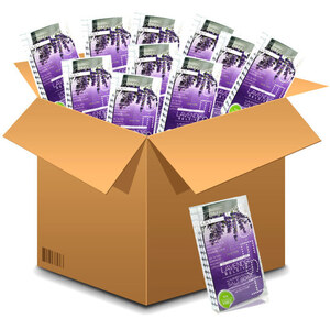 Voesh Pedicure in a Box - 4-Step Hygienic Spa Pedicure Kit - Lavender Releive Case of 50 Treatment Sets ()