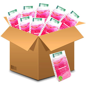 Voesh Pedicure in a Box - 4-Step Hygienic Spa Pedicure Kit - Vitamin Recharge Case of 50 Treatment Sets ()