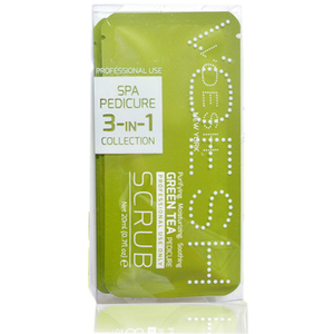 Voesh Pedicure in a Box - 3-Step Hygienic Spa Pedicure Kit - Green Tea 1 Treatment Set ()