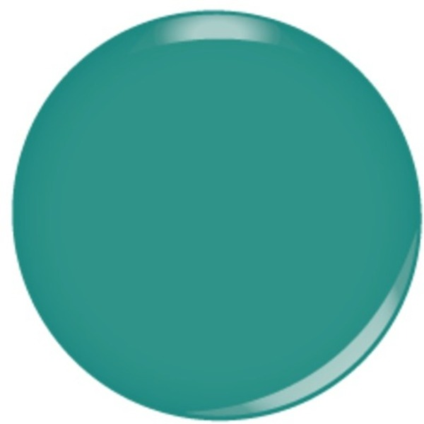 Kiara Sky Soak Off Gel Polish + Matching Lacquer - Teal The Spotlight (616913963163 G416)