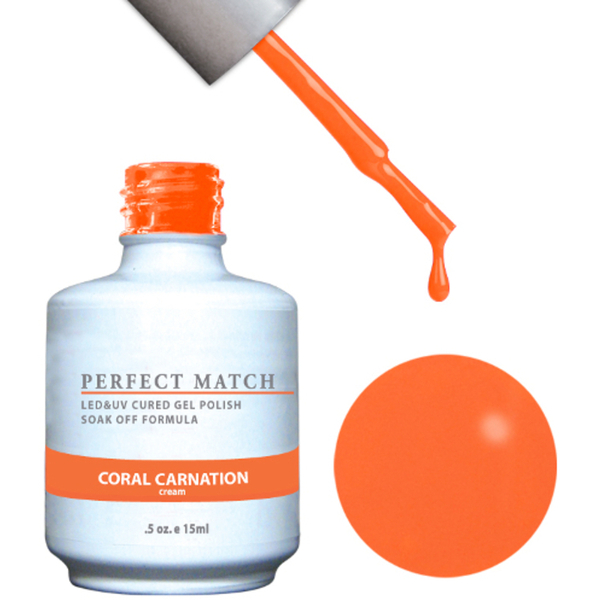 PERFECT MATCH - Soak Off Gel Polish + Lacquer - CORAL CARNATION (PMS97)