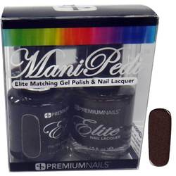 ManiPedi - Elite Matching Gel Polish + Lacquer - Play the Ponies? 0.5 oz. Each (0663903605019 MP501)