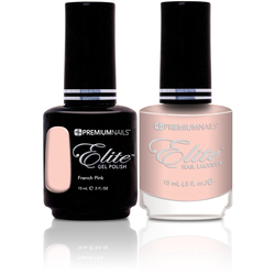 ManiPedi - Elite Matching Gel Polish + Lacquer - French Pink Pair 0.5 oz. Each (0663903605262 MP526)