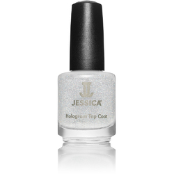 Jessica Custom Nail Colour Polish - Silver Hologram Topcoat 0.5 oz. (601)