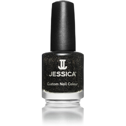 Jessica Custom Nail Colour Polish - Black Ice - Metallic Finish 0.5 oz. (645)