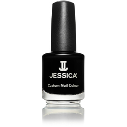Jessica Custom Nail Colour Polish - Black Lustre 0.5 oz. (758)
