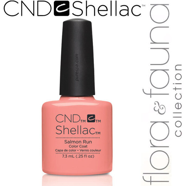 CND SHELLAC UV Color Coat - Spring 2015 Flora & Fauna Collection - Salmon Run 0.25 oz. - The 14 Day Manicure is Here! (639370907833 - 90783)