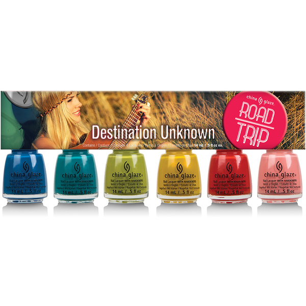 China Glaze Lacquer - DESTINATION UNKNOWN 6 Piece Kit - Part of the Spring 2015 Road Trip Collection 6 X 0.5 oz. (CG82398)