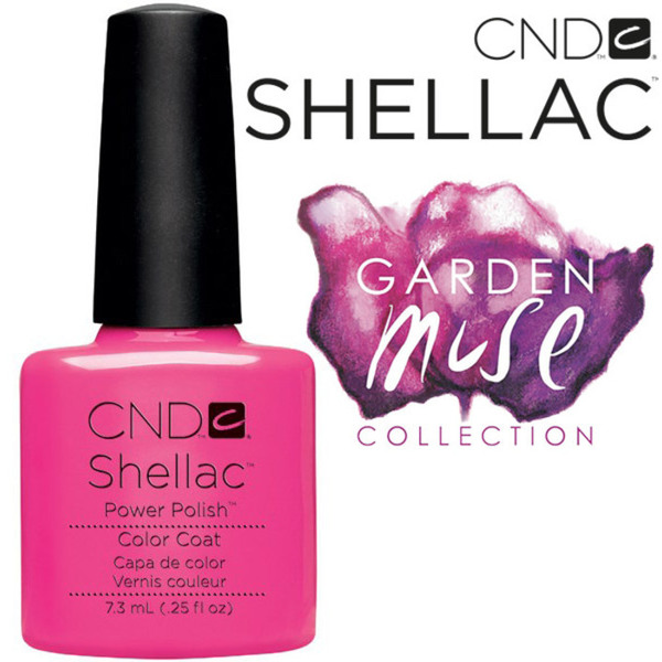 CND SHELLAC UV Color Coat - 2015 Garden Muse Collection - Hot Pop Pink 0.25 oz. - The 14 Day Manicure is Here! (0639370405193)