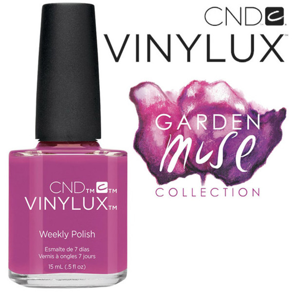 CND Vinylux Polish - 2015 Garden Muse Collection - Crushed Rose 0.5 oz. - 7 Day Air Dry Nail Polish (7219730000)