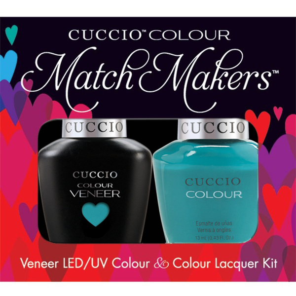 Cuccio Match Makers - Venice Beach Collection - Muscle Beach Kit - 1 Nail Lacquer + 1 Matching Veneer Soak Off LEDUV Nail Colour 0.43 oz. Each (#6141)