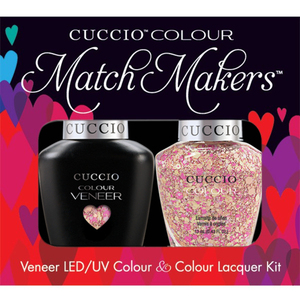 Cuccio Match Makers - Venice Beach Collection - Mimes & Musicians Kit - 1 Nail Lacquer + 1 Matching Veneer Soak Off LEDUV Nail Colour 0.43 oz. Each (#6142)