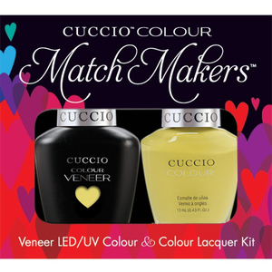 Cuccio Match Makers - Venice Beach Collection - Good Vibrations Kit - 1 Nail Lacquer + 1 Matching Veneer Soak Off LEDUV Nail Colour 0.43 oz. Each (#6143)