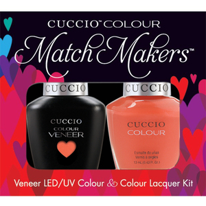 Cuccio Match Makers - Venice Beach Collection - California Dreamin Kit - 1 Nail Lacquer + 1 Matching Veneer Soak Off LEDUV Nail Colour 0.43 oz. Each (#6145)