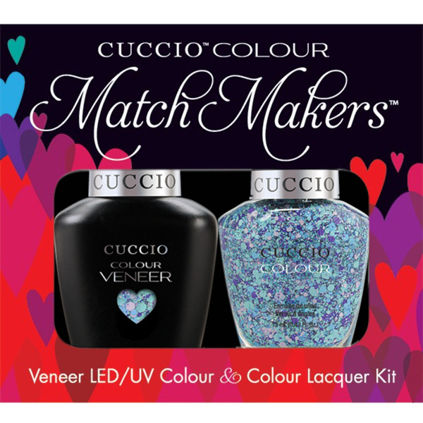 Cuccio Match Makers - Venice Beach Collection - A Star Is Born Kit - 1 Nail Lacquer + 1 Matching Veneer Soak Off LEDUV Nail Colour 0.43 oz. Each (#6146)