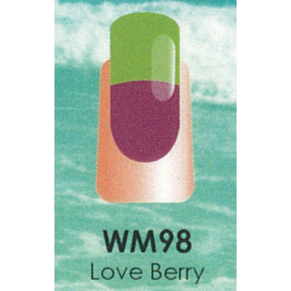 WaveGel Mood Color Soak Off Gel Polish - Love Berry 0.5 oz. (WM098)