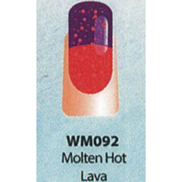 WaveGel Mood Color Soak Off Gel Polish - Molten Hot Lava 0.5 oz. (WM092)