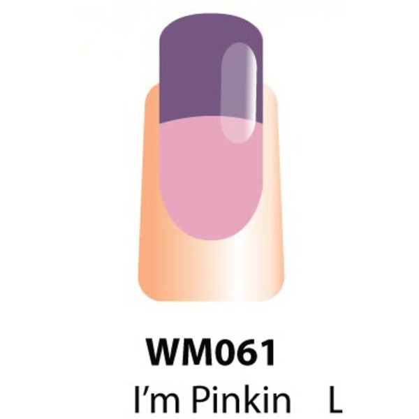 WaveGel Mood Color Soak Off Gel Polish - I'm Pinkin Purple 0.5 oz. (WM061)