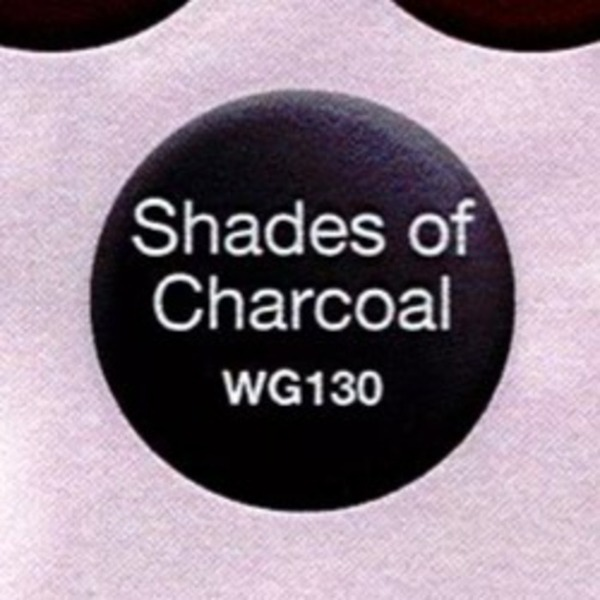 WaveGel Matching Soak Off Gel Polish & Nail Lacquer - Shades of Charcoal 0.5 oz. Each (WG130)