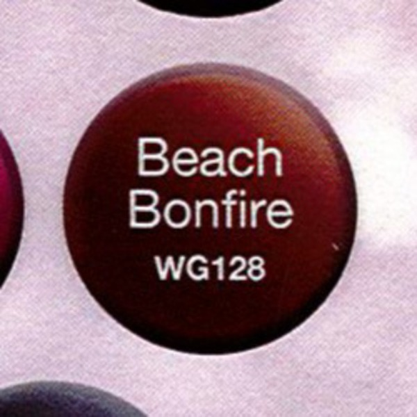 WaveGel Matching Soak Off Gel Polish & Nail Lacquer - Beach Bonfire 0.5 oz. Each (WG128)