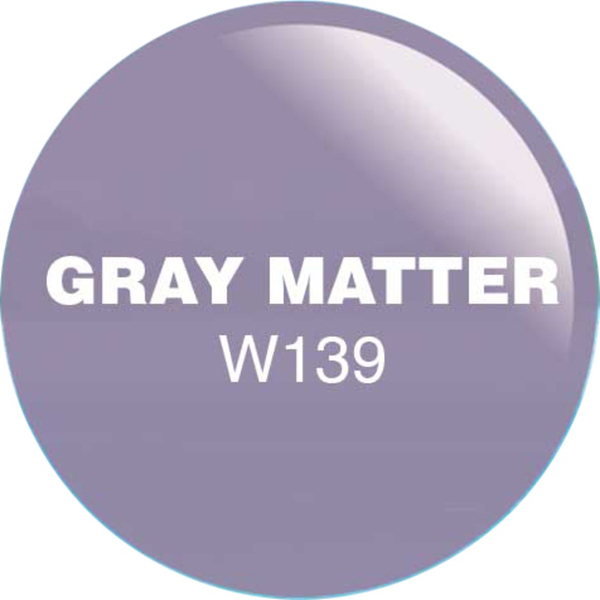 WaveGel Matching Soak Off Gel Polish & Nail Lacquer - Gray Matter 0.5 oz. Each (WG139)