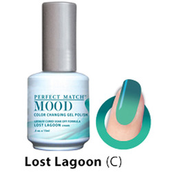 Mood Color Changing Soak Off Gel Polish - LOST LAGOON (cream) (MPMG41)