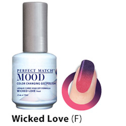 Mood Color Changing Soak Off Gel Polish - WICKED LOVE (frost) (MPMG39)