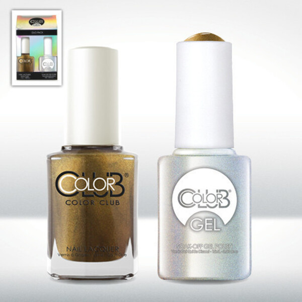 Color Club Gel Duo Pack - PEARL DISTRICT - 1 Gel Lacuqer 0.5 oz + 1 Lacquer 0.5oz Matching Color (GEL1005)