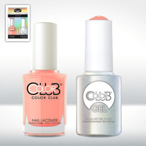 Color Club Gel Duo Pack - EAST AUSTIN - 1 Gel Lacuqer 0.5 oz + 1 Lacquer 0.5oz Matching Color (GEL1002)