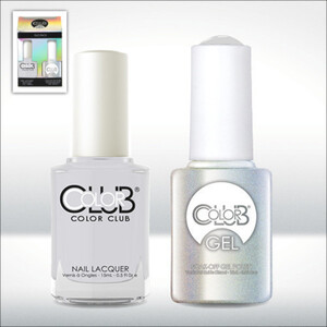 Color Club Gel Duo Pack - SILVERLAKE - 1 Gel Lacuqer 0.5 oz + 1 Lacquer 0.5oz Matching Color (GEL1000)