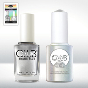 Color Club Gel Duo Pack - ON THE ROCKS - 1 Gel Lacuqer 0.5 oz + 1 Lacquer 0.5oz Matching Color (GEL987)