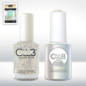 Color Club Gel Duo Pack - SNOWFLAKE - 1 Gel Lacuqer 0.5 oz + 1 Lacquer 0.5oz Matching Color (GELAWA06)