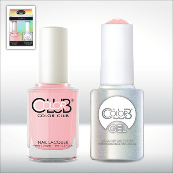 Color Club Gel Duo Pack - LITTLE MORE AMOUR - 1 Gel Lacuqer 0.5 oz + 1 Lacquer 0.5oz Matching Color (GEL933)