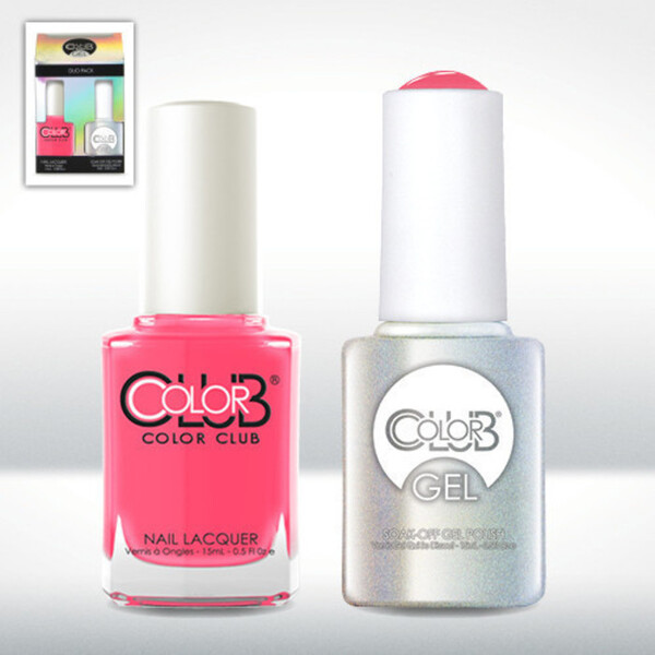 Color Club Gel Duo Pack - JACKIE OH! - 1 Gel Lacuqer 0.5 oz + 1 Lacquer 0.5oz Matching Color (GELAN05)
