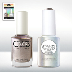 Color Club Gel Duo Pack - ANTIQUATED - 1 Gel Lacuqer 0.5 oz + 1 Lacquer 0.5oz Matching Color (GEL928)