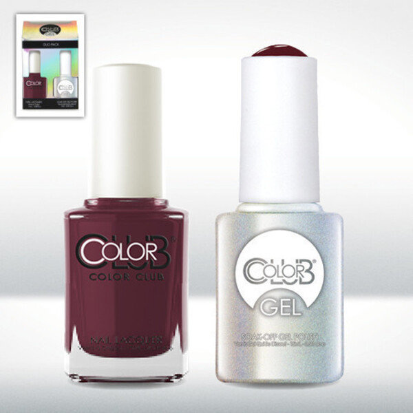 Color Club Gel Duo Pack - FEVERISH - 1 Gel Lacuqer 0.5 oz + 1 Lacquer 0.5oz Matching Color (GEL825)
