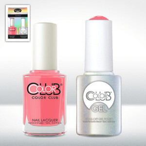 Color Club Gel Duo Pack - IN BLOOM - 1 Gel Lacuqer 0.5 oz + 1 Lacquer 0.5oz Matching Color (GEL803)