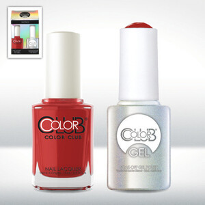 Color Club Gel Duo Pack - CATWALK - 1 Gel Lacuqer 0.5 oz + 1 Lacquer 0.5oz Matching Color (GEL767)
