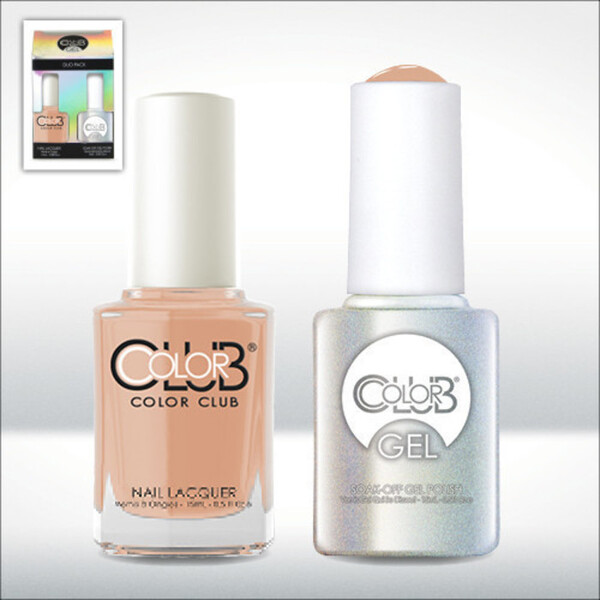 Color Club Gel Duo Pack - NATURE'S WAY - 1 Gel Lacuqer 0.5 oz + 1 Lacquer 0.5oz Matching Color (GEL759)